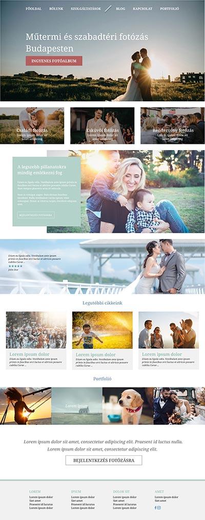 Weboldal design