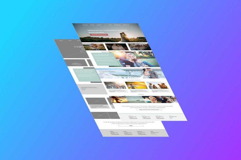 Weboldal design. Hogyan készül egy honlap főoldalának látványterve?