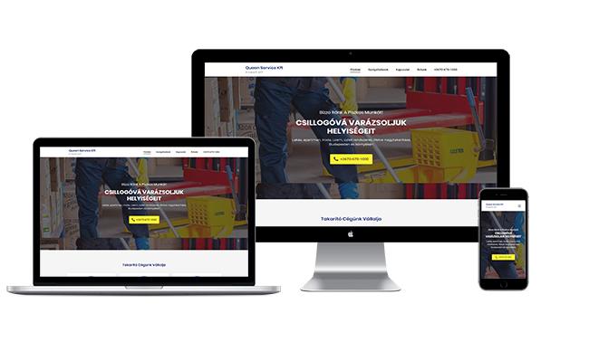 Queen Service Kft weboldal készítés