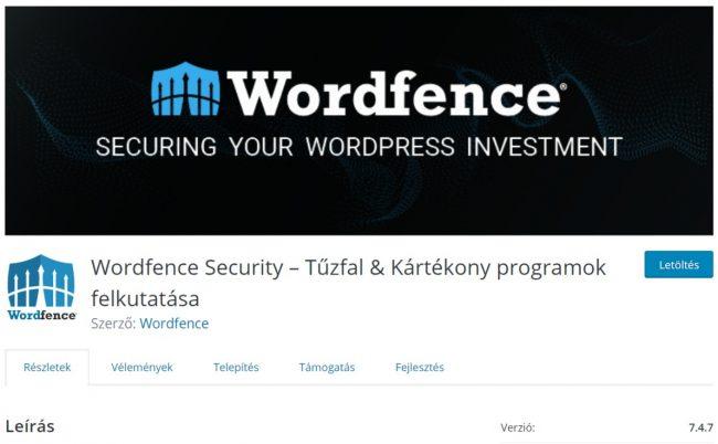 WordPress weboldal biztonság