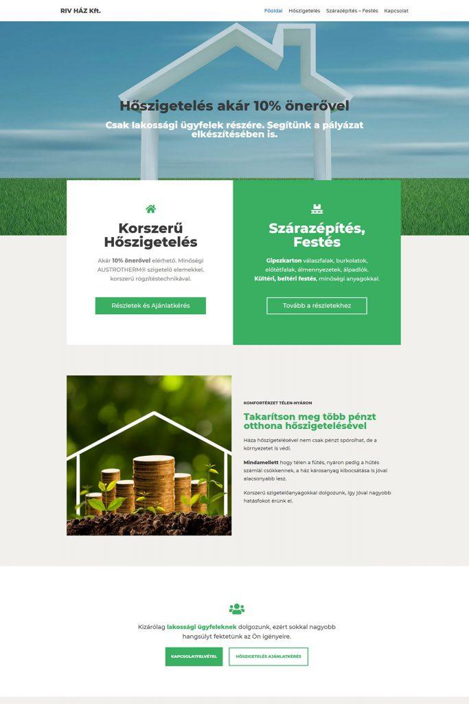 RIV HÁZ weboldal